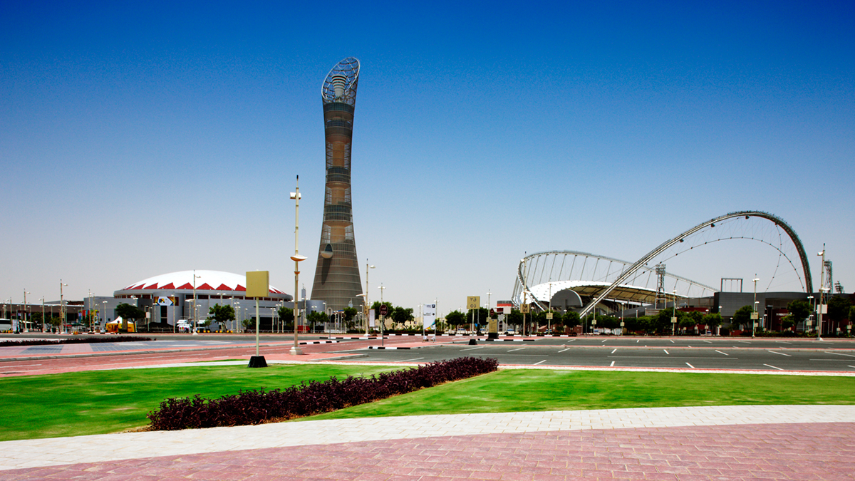Khalifa Stadium and Aspire Tower, Doha (Sophie James/Shutterstock.com)