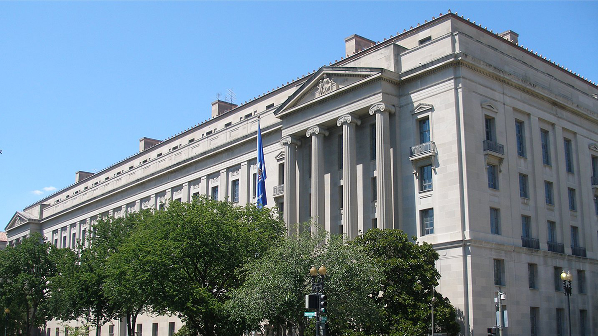 US Department of Justice building, Washington DC (Coolcaesar/Wikipedia)