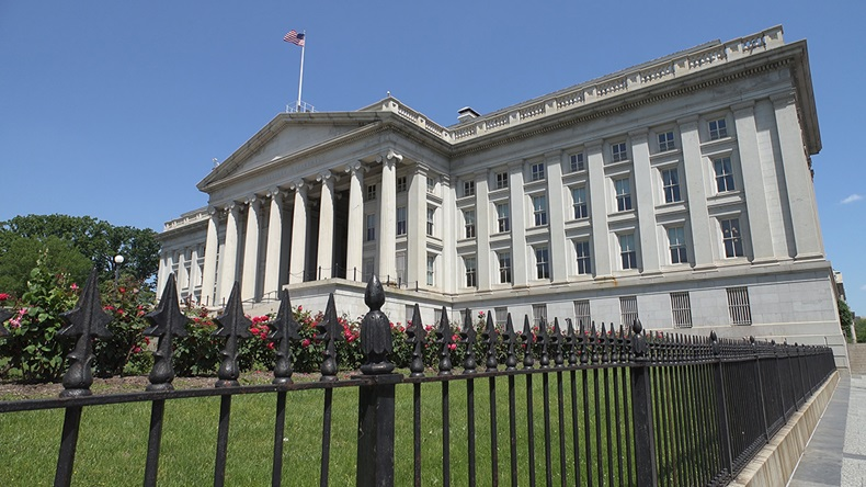 US Department of the Treasury building (bakdc/Shutterstock.com)