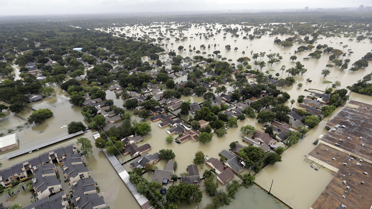 Hurricane Harvey flooding (David J Phillip/AP)