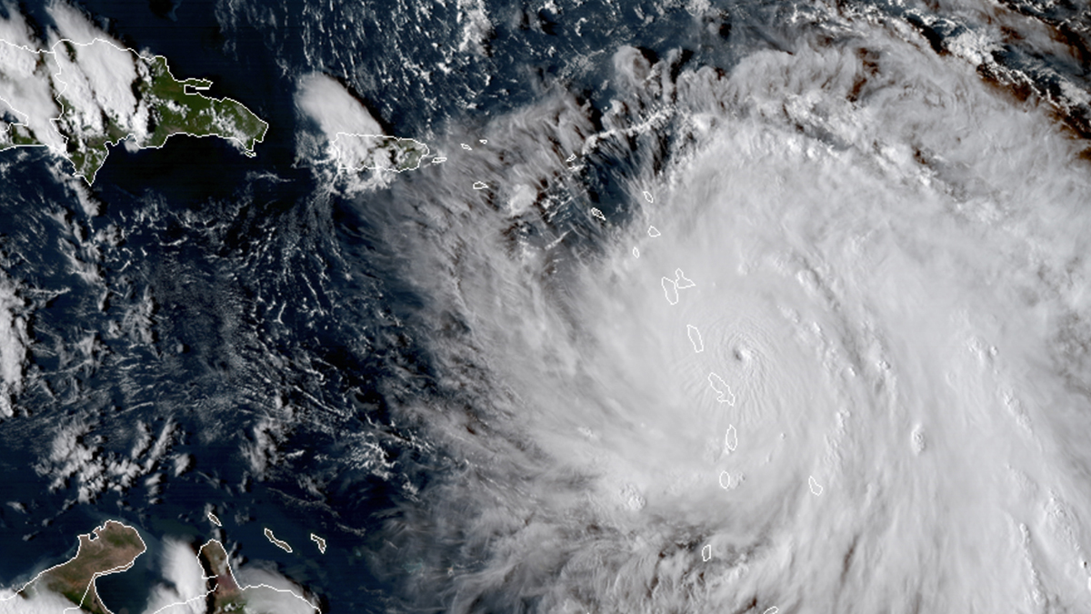 Hurricane Maria (2017) (Nasa via AP)