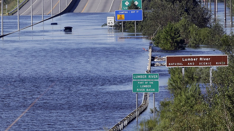Hurricane Florenc flooding (2018) (Gerry Broome/AP)