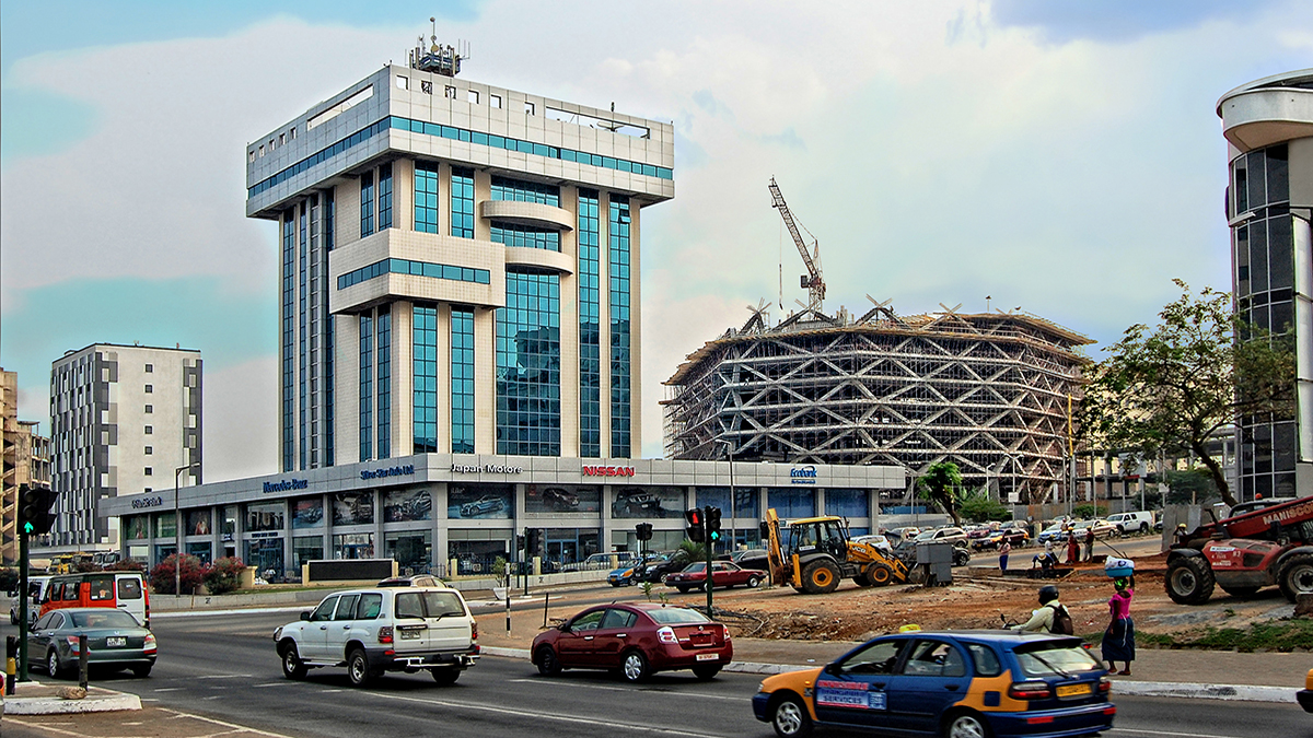 Accra, Ghana construction (Nataly Reinch/Shutterstock.com)