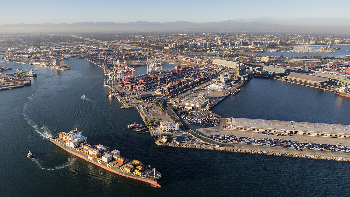 Port of Long Beach, California ( trekandshoot/Shutterstock.com)
