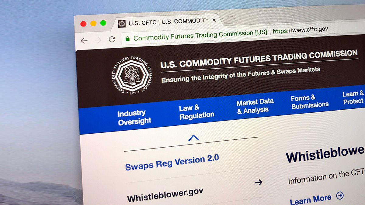 Commodities Futures Trading Commission website ( Jarretera/Shutterstock.com)