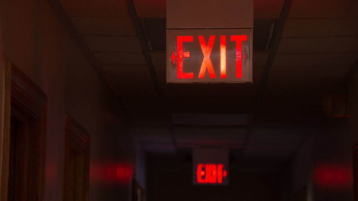 Exit sign (Mike Focus/Shutterstock.com)