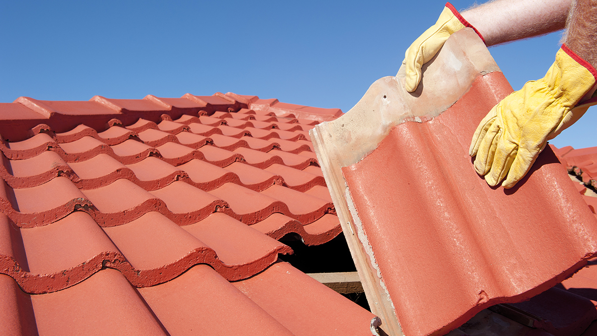 Fixing roof (Rob Bayer/Shutterstock.com)