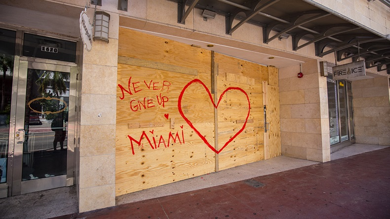 Miami boarded-up shop (Miami2you/Shutterstock.com)