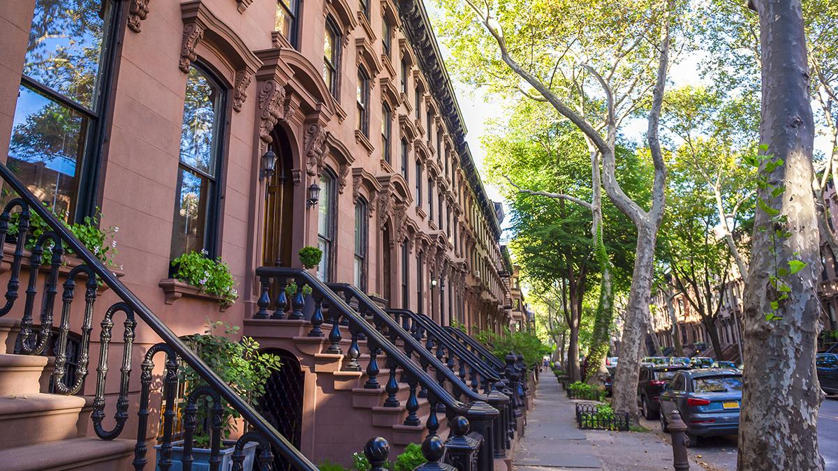 New York brownstones (lazyllama/Shutterstock.com)